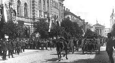 Celebration of incorporation of Vilnius Region to Poland 1922 - Wilno – Wikipedia, wolna encyklopedia Lithuania, Poland, Baroque Architecture, Benetton, World War Ii, Old Things, Street View, City, Travel
