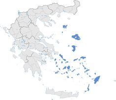 Aegean Islands (blue) within Greece Location Map, Mediterranean Sea, Geography, Greece, Islands, Blue, Maps, Greece Country, Map