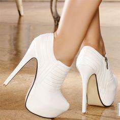 Escarpins women white heels 15 cm size 35 #heels #stiletto http://www.loveitsomuch.com/