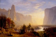 Albert Bierstadt, Yosemite Valley, 1868, Oil on canvas. Gift of Miss Marguerite Laird in memory of Mr. and Mrs. P.W. Laird.