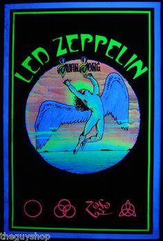 Poster de luz de neón de Led Zeppelin