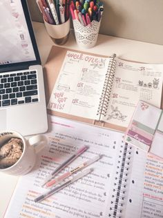 emma & # s studyblr, Study Desk, Study Space, Study Organization, Pretty Notes, Do Homework, School Notes, School Pens, College Notes, Study Hard