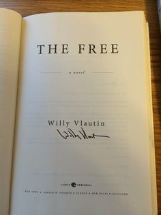 Willy Vlautin - The Free. Purchased from Rediscovered Bookshop Boise, ID.