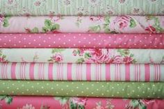"""barefoot roses legacy"" pink patterns fabrics  (marionmadelinestudio)"