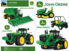 John Deere Equipment Wall Decals – GreenToys4u.com