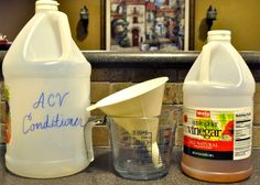 Apple Cider Vinegar Conditioner and Baking Soda Shampoo