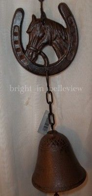 """Rustic Horse themed Cast Iron """"Bell"""" Wind Chime.  Only $10.95 + Shipping.    :)"""