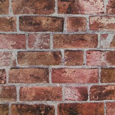 Red Brick Wallpaper - Wall Sticker Outlet