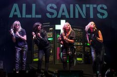 Nicole Appleton, Shaznay Lewis, Natalie Appleton and Melanie Blatt of All Saints perform on Day 1 of V festival 2014.