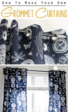 Diy curtains 168603579775946997 - Simple to make, easy to operate, and just downright great-looking….grommet curtains can improve the look of any room! We'll show you how to make your own in just a couple of hours!