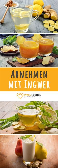 Passend zur kalten Winterzeit: Rezepte mit Ingwer die beim Abnehmen helfen und das Immunsystem stärken! mehr auf vitalkochen.de