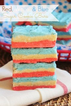 High Heels & Grills: Red, White, and Blue Sugar Cookie Bars
