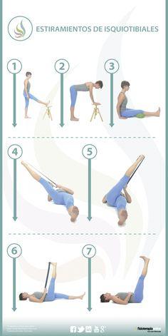 Formas distintas de estirar los isquiotibiales y cadena muscular posterior.