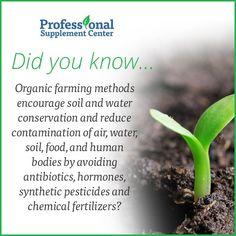 Did you know... organic farming is healthier than traditional farming methods?