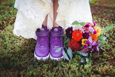 Purple sneakers as bridal shoes. Loved this bride! Loved this photographer! Purple Sneakers, Farm Wedding, Bridal Shoes, Berries, Events, Bride, Instagram, Fashion, Bride Shoes Flats