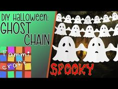 How to Make a Paper Chain of Ghosts – Great for Kids – Ghost Garland – Henna Tattoos Mehendi Mehndi Design Ideas and Tips Halloween Arts And Crafts, Homemade Halloween Decorations, Halloween Diy, Holiday Crafts, Holiday Decor, Craft Projects For Kids, Paper Crafts For Kids, Diy Paper, Paper Flower Garlands