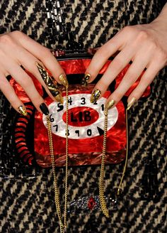 The NYFW F/W 2015 Libertine runway predicted dramatic gold nails as THE trend this winter.
