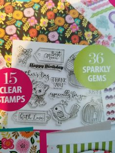 Free stamps from Make Special Cards Magazine.