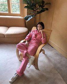 Thinking Pink! YOYO CAO looking effortless cool in the Ganni Denim Jumpsuit, which is exclusive to Australia and available at Tuchuzy. Yoyo Cao, Wide Leg Denim, Denim Jumpsuit, Flare Jeans, Hot Pink, Things To Think About, Casual, Fashion Trends, Instagram
