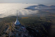 Hotel Ještěd, Czech Republic - 18 Unique Hotels From Around the World World Geography, Unique Hotels, Beautiful Architecture, Czech Republic, Nice View, The Great Outdoors, Airplane View, Beautiful Places, Places To Visit