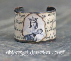 Sacred  Gorgeous Mary & Jesus Bracelet  by ObjectsOfDevotion.com