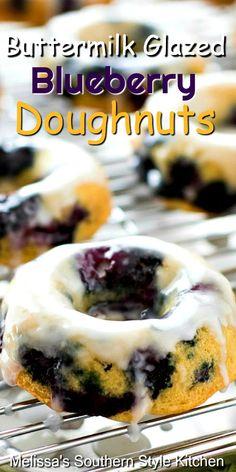 Best Homemade Bread Recipe, Best Crockpot Recipes, Homemade Donuts, Sweet Recipes, Thai Recipes, Baked Blueberry Donuts, Baked Doughnut Recipes, Baked Doughnuts, Donuts Donuts