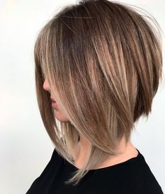 Right now, we're lusting over any and every angled lob we can feast our eyes on. If you're ready for a fresh and fabulous new 'do, these long angled bob hairstyles will do the trick. Long Angled Bob Hairstyles, Inverted Bob Hairstyles, Short Haircuts, Layered Haircuts, Braided Hairstyles, Short Hairstyles, Korean Hairstyles, Celebrity Hairstyles, Cute Bob Haircuts