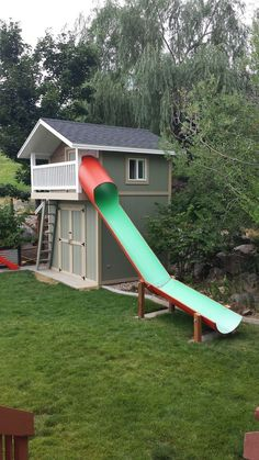 My husband wanted to build a shed. I wanted a playhouse for the kids. Life is all about compromise. :) While we were at it, we decided to ad... #Tipsforbuildingashed #buildachildrensplayhouse #kidsplayhouseplans