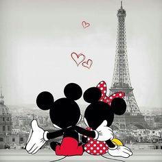 Mickey and Minnie in Paris - Disney Liebe Disney Mickey Mouse, Arte Do Mickey Mouse, Mickey Mouse E Amigos, Mickey Mouse Drawings, Mickey Mouse And Friends, Disney Drawings, Mickey Mouse Cartoon, Drawing Disney, Mickey Mouse Wallpaper Iphone