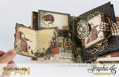 Tati, Hallowe'en in Wonderland., Magical Book, Product by Graphic 45.