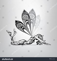 Find Vector Silhouette Girl Butterfly Wings stock images in HD and millions of other royalty-free stock photos, illustrations and vectors in the Shutterstock collection. Fairy Tattoo Designs, Music Tattoo Designs, Music Tattoos, Tatouage Kundalini, Drawing Sketches, Art Drawings, Mermaid Tattoos, Fairy Art, Butterfly Wings
