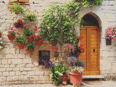 Italian Doorway Cross Stitch Pattern