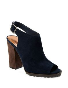 Casual appeal covered in suede stacked atop a block heel.