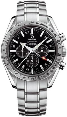 Omega Men's 3581.50.00 Speedmaster Broad Arrow GMT Automatic Chronometer Chronograph Watch