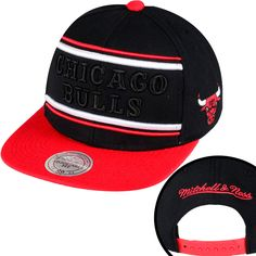 NBA Mitchell And Ness x Chicago Bulls Snapbacks Hats Black/Red 793 9031! Only $8.90USD