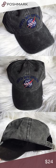 81f5d6df31e ❤️SALE❤ i need my space NASA gray baseball hat Boutique
