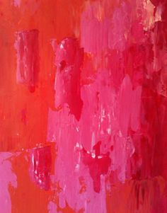 In love with this... pink & red painting. ♥