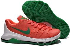 new arrivals 19f46 7c3b0 Nike KD 8 Green White Orange Shoes