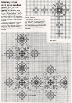 hardanger Types Of Embroidery, Learn Embroidery, Hand Embroidery Stitches, Embroidery Techniques, Cross Stitch Embroidery, Embroidery Patterns, Cross Stitch Patterns, Swedish Weaving Patterns, Drawn Thread