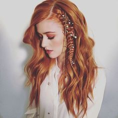 "On set today with #katherinemcnamara and hairstylist @chrisdylanhair gives word that ""effortless hair is the best hair."" We agree"