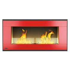 Napoleon Linear Wall-Mount Ethanol Fireplace - Red Gel Fireplace, Linear Fireplace, Bioethanol Fireplace, Fireplace Doors, Fireplaces, Firewood Holder, Fireplace Accessories, Electric Fireplace, Brushed Stainless Steel