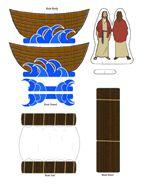 De storm op het meer knutselen for Peace crafts for sunday school