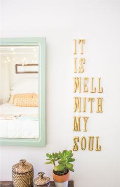 it is well with my soul spray painted gold letters - www.goinghometoroost.com