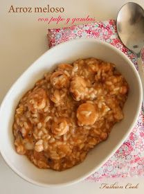 Arroz meloso con pulpo y gambas (Thermomix)* Risotto, Rice Recipes, Cooking Recipes, Healthy Recipes, Food N, Food And Drink, My Favorite Food, Favorite Recipes, Spanish Dishes