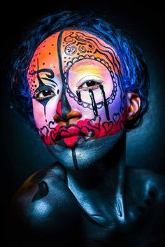 CMC Makeup School Dallas, Student Work, October Instagram: @@cmc_makeup_school CMC Makeup School, makeup schools, makeup classes, mac makeup classes, special effects makeup schools, online makeup classes, free makeup classes, student work, October makeup, Sugar Skull