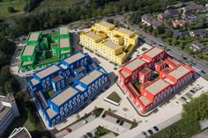 Image 2 of 47 from gallery of Boeselburg Council and Student Housing / Kresings GmbH. Photograph by HG Esch German Architecture, Architecture Student, Architecture Plan, Contemporary Architecture, Architecture Details, Hospital Architecture, Amazing Architecture, Student House, Student Life