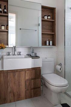 Most beutiful Photos Decoration Gallery and Ideas Bathroom Renos, White Bathroom, Bathroom Renovations, Bad Inspiration, Bathroom Inspiration, Bathroom Design Small, Bathroom Interior Design, White Sink, House Design