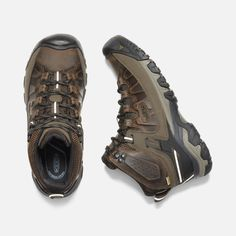 Our men's Targhee III waterproof hiking boots are award-winning for comfort, durability, fit & performance. Updated look for your all-terrain adventures. Mens Waterproof Hiking Boots, Mens Hiking Boots, Hiking Shoes, Georgia Boots, Yellow Boots, Keen Shoes, Comfortable Boots, Shoe Company, Trail Shoes