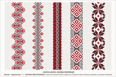 Traditional Romanian blouses are made from cotton or linen, sometimes silk, and… Embroidery Motifs, Cross Stitch Embroidery, Embroidery Designs, Cross Stitch Borders, Cross Stitch Patterns, Palestinian Embroidery, Embroidery Techniques, Loom Beading, Needlework