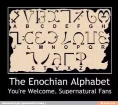 Guess this means I can check for myself if things are funnier in Enochian.